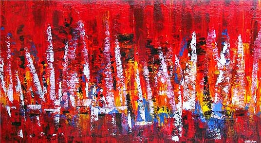 Cowes Week abstract Painting