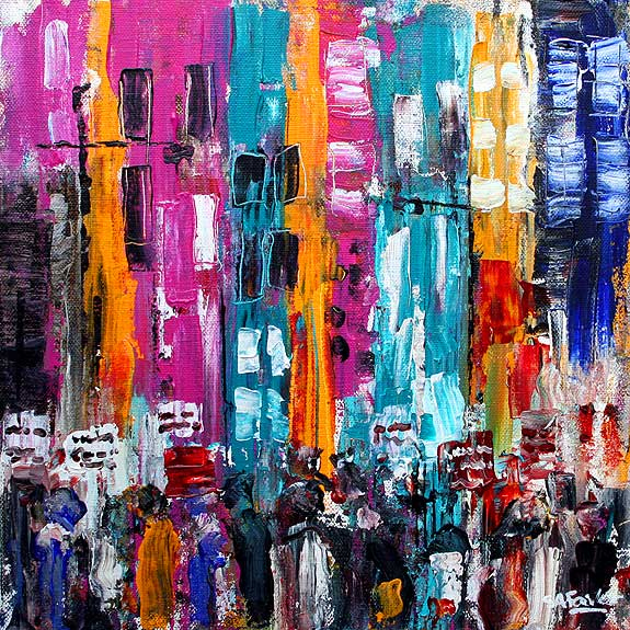 Camden Market II London Cityscape Painting