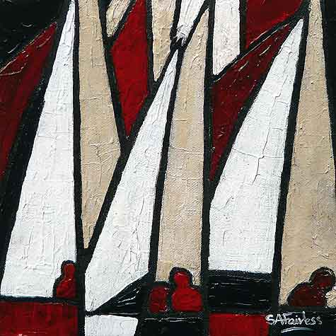 Regatta Day abstract Painting
