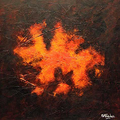 Grandad's Embers abstract painting