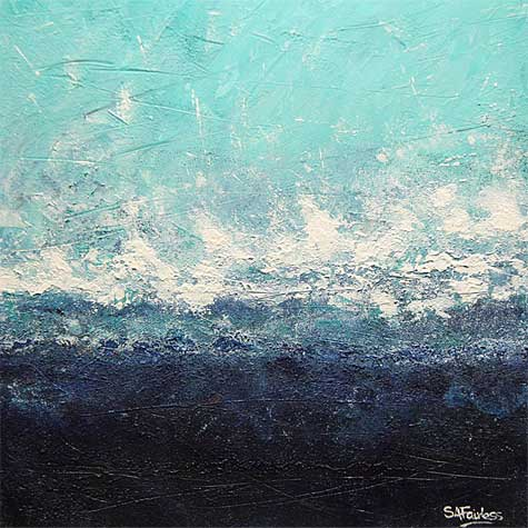 crashing Wave abstract seascape Painting