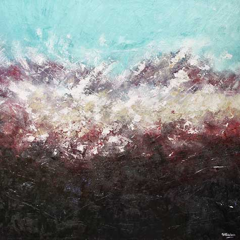 Edge of Day abstract landscape Painting
