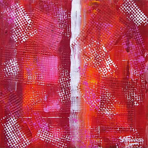 Candy Lattice abstract painting