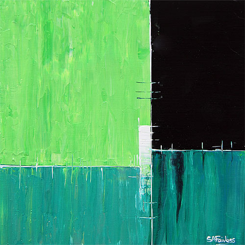 Green Earth abstract painting