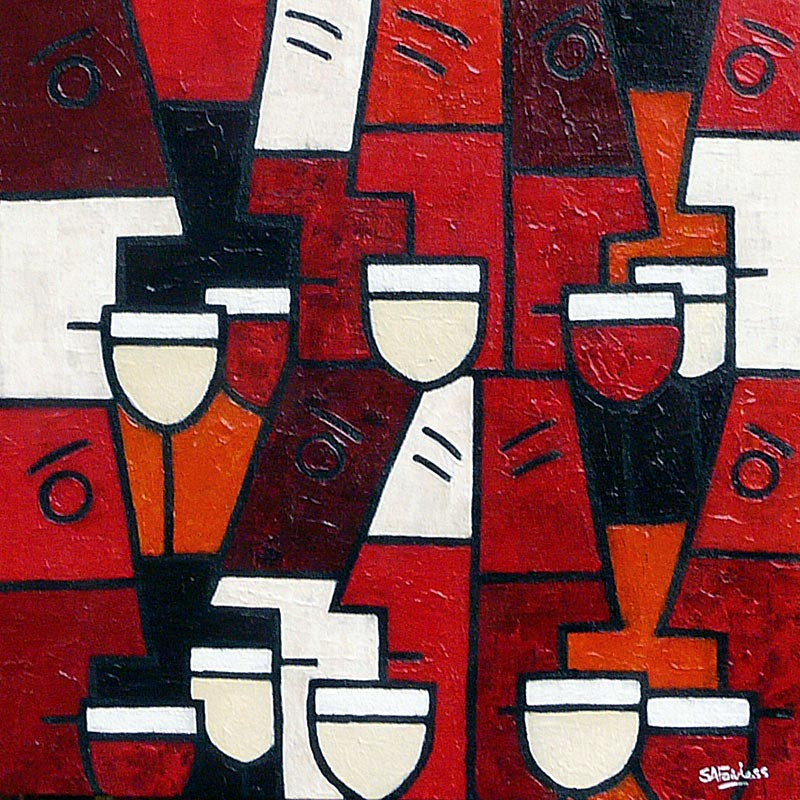 wine themed art