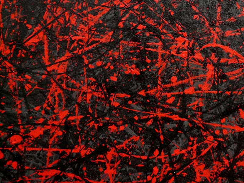 Black Grey Red - Large abstract painting