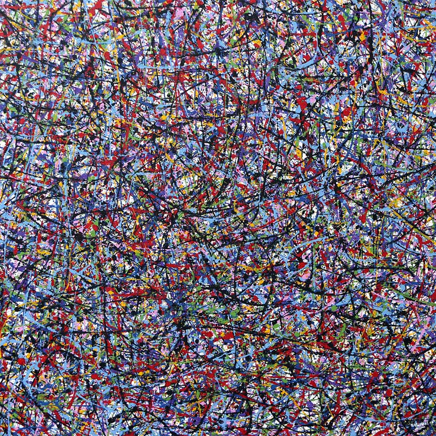 abstract jackson pollock splash art Painting