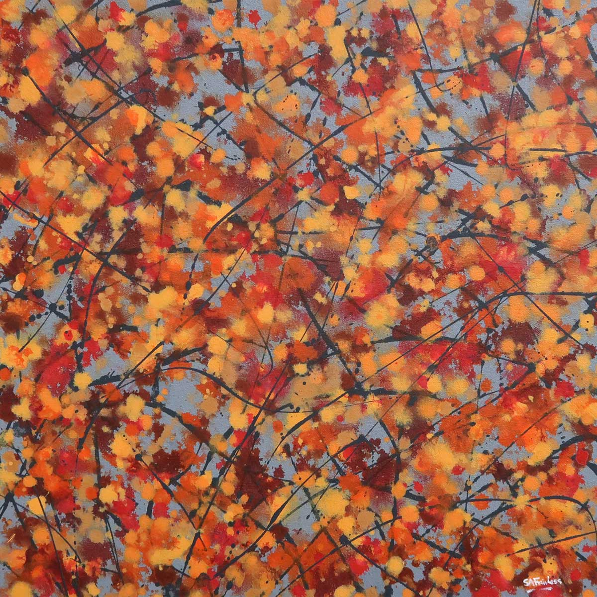 Autumn abstract painting