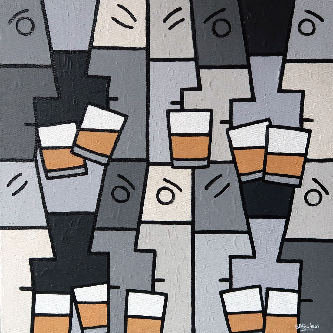 abstract whiskey painting