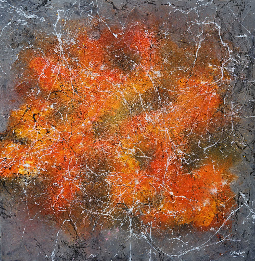 image of abstract painting of stars in the universe