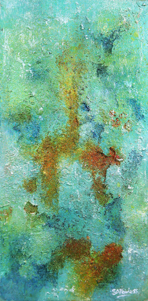 Textured organic abstract painting