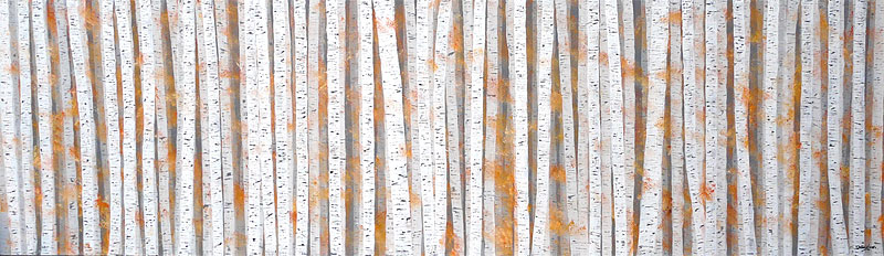 silver birch autumn painting