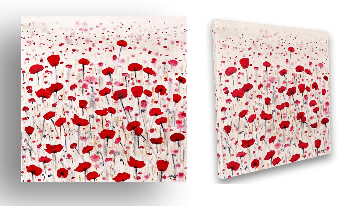 Floral Poppy painting