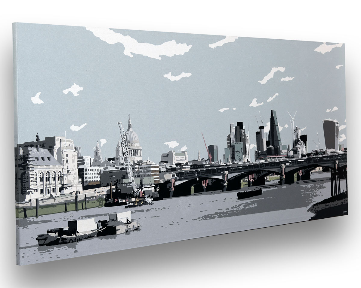 Large London Cityscape painting