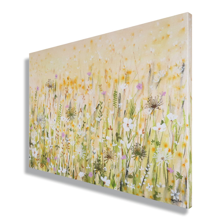 Spring landscape painting
