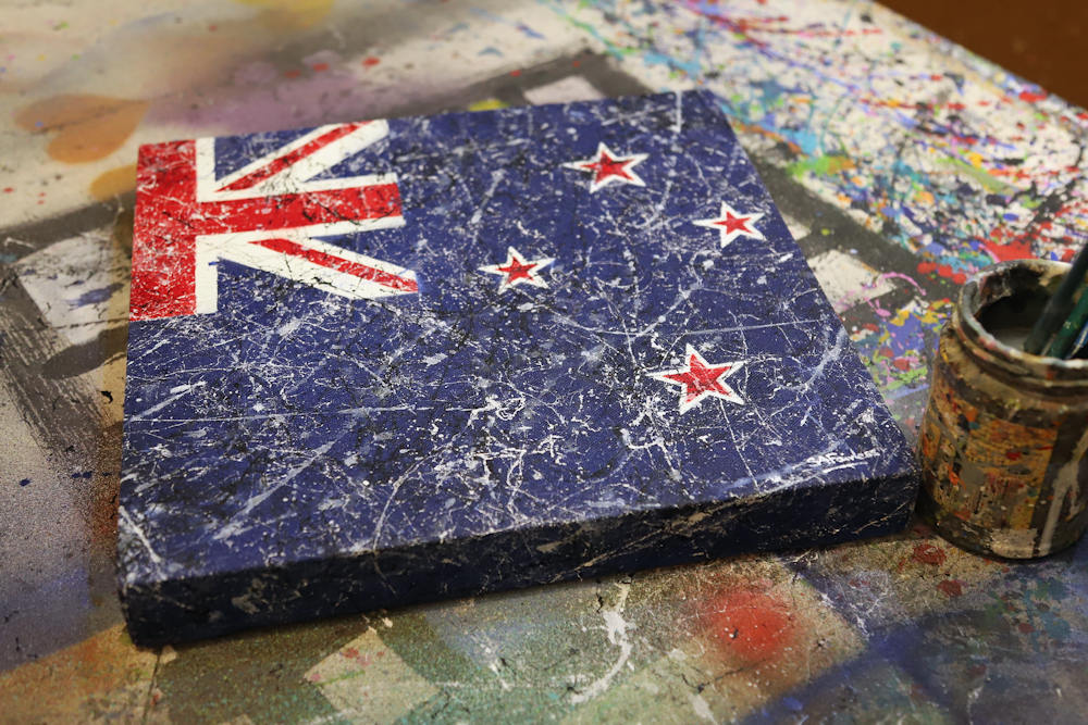 New Zealand Flag painting