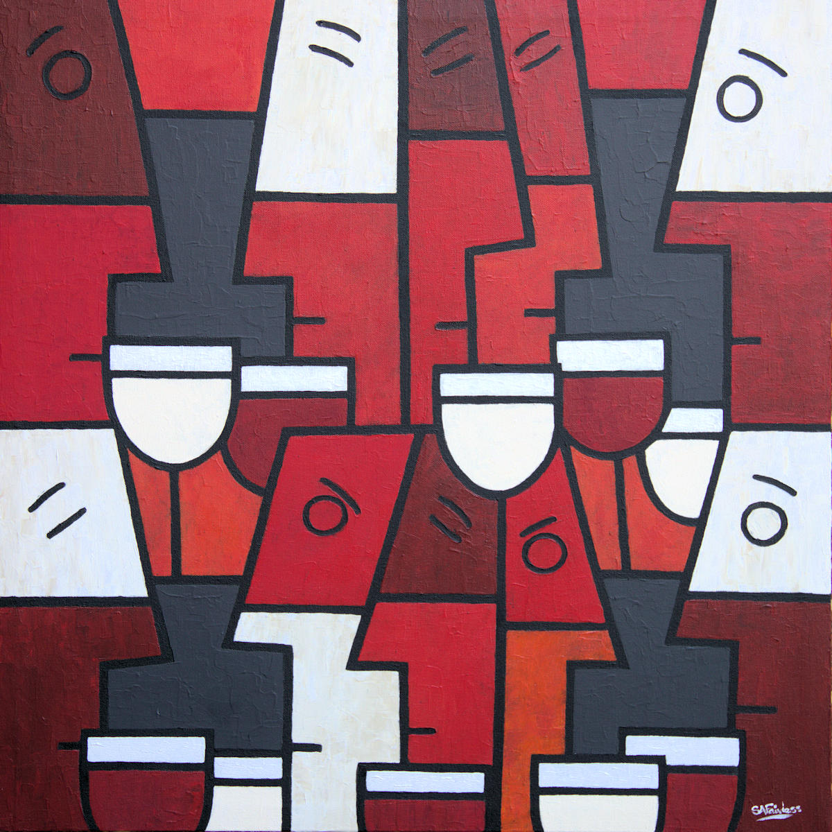 abstract art wine painting