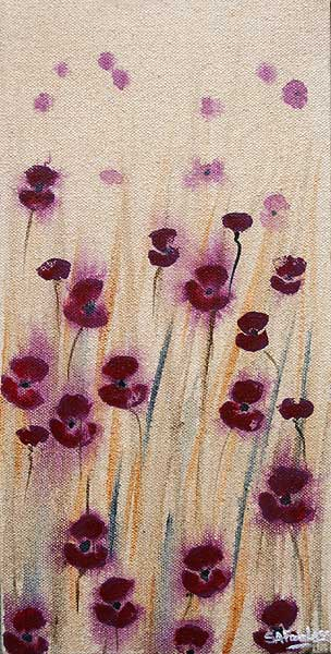 Poppies Floral Painting