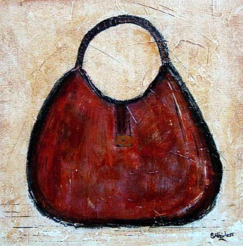 Brown Leather Guuci popart painting