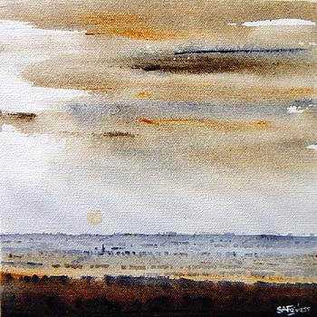 English Sundown Landscape painting
