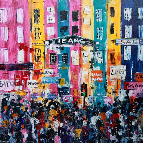Camden Market London Cityscape Painting