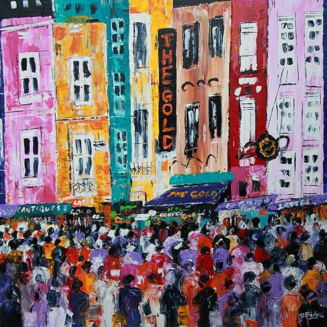 Portobello Road London Cityscape Painting