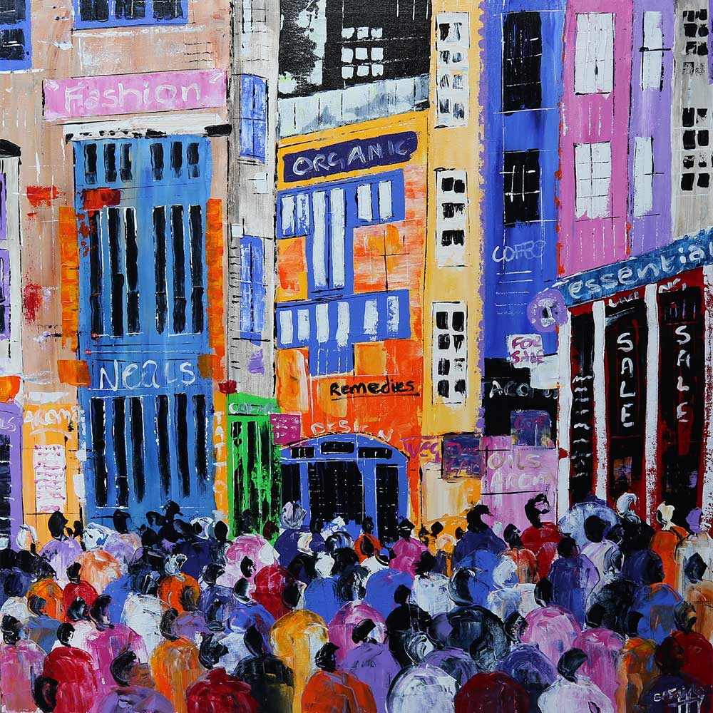 Neals Yard London Cityscape Painting