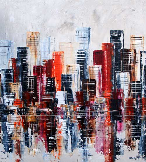 Waterfront III cityscape Painting