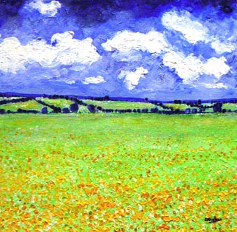 Summer Meadows landscape painting