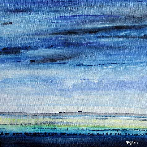 Blue Dawn Landscape painting