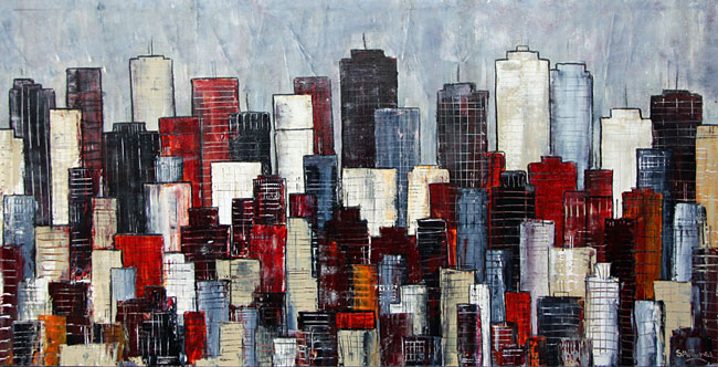 City Vision new york cityscape painting