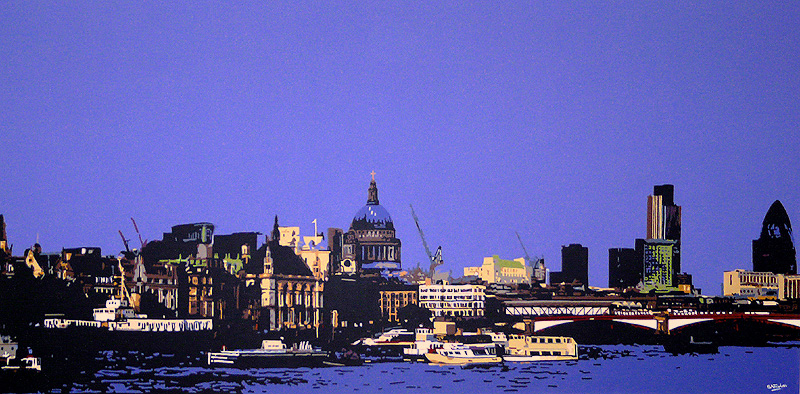 View from Gabriels Wharf London Painting