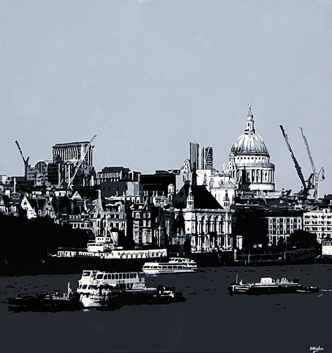 St Pauls London Painting