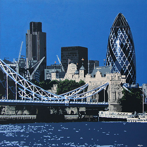 View from Butlers Wharf London Painting