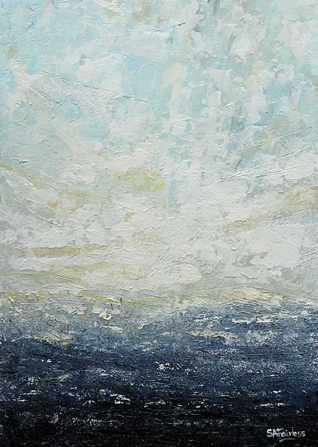 Sky & Sea abstract seascape Painting