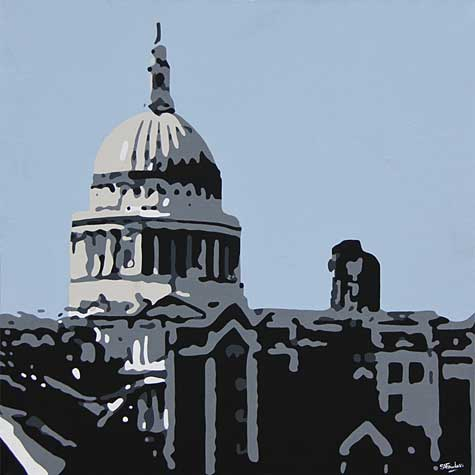 St Pauls from the Southbank London Painting