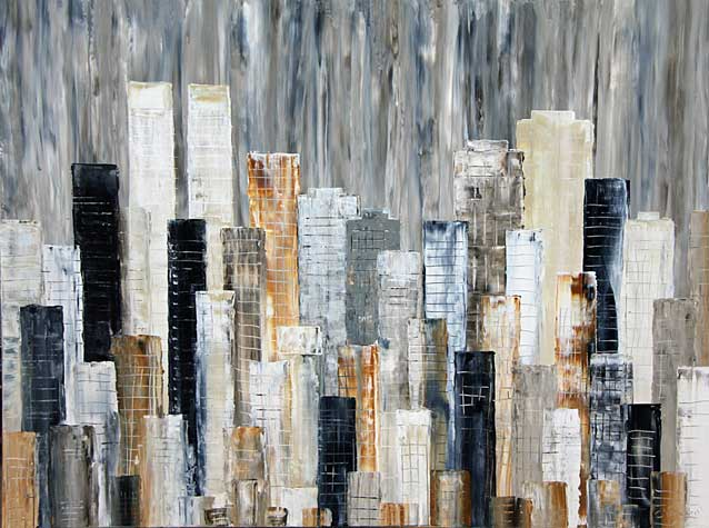 City Block Landscape painting