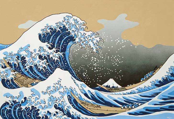The Great Wave Japanese art