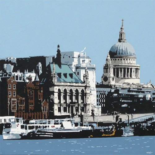 St Pauls London Painting by Simon Fairless