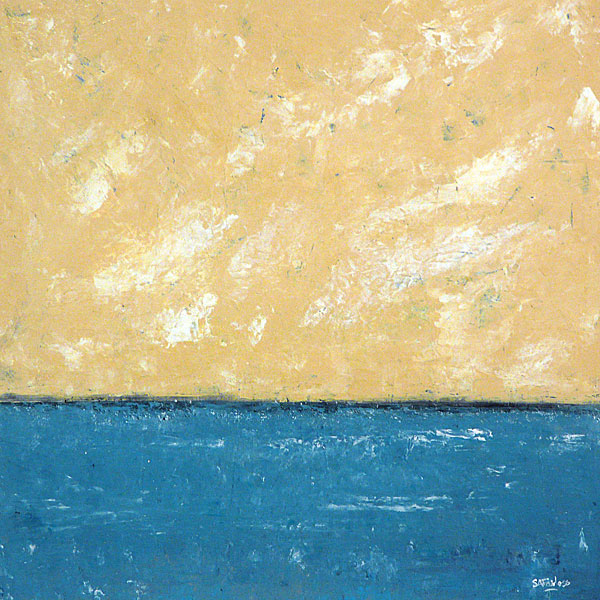 Sea Horizon 15x15 - Abstract seascape, of a tranquil sea.