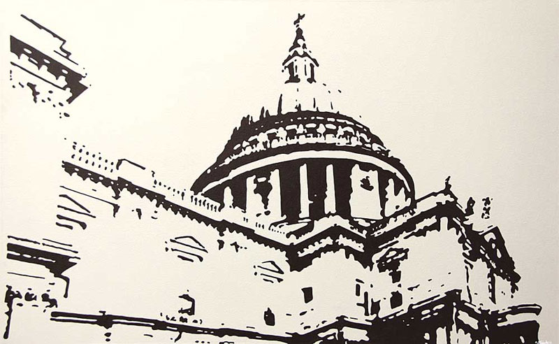 St Pauls Cathedral london cityscape painting
