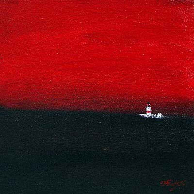 Lighthouse seascape painting
