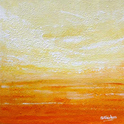 Orange Dawn abstract landscape Painting