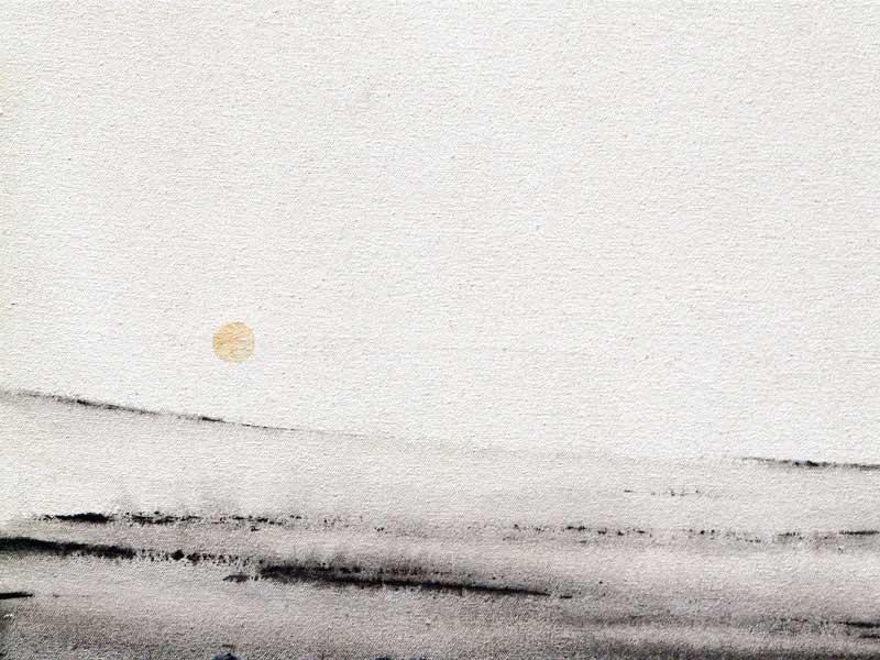 Silent landscape minimalist landscape painting for Minimal art landscape