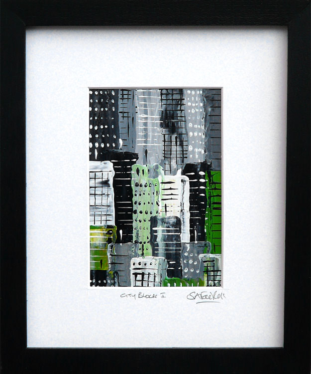 abstract Cityscape Painting