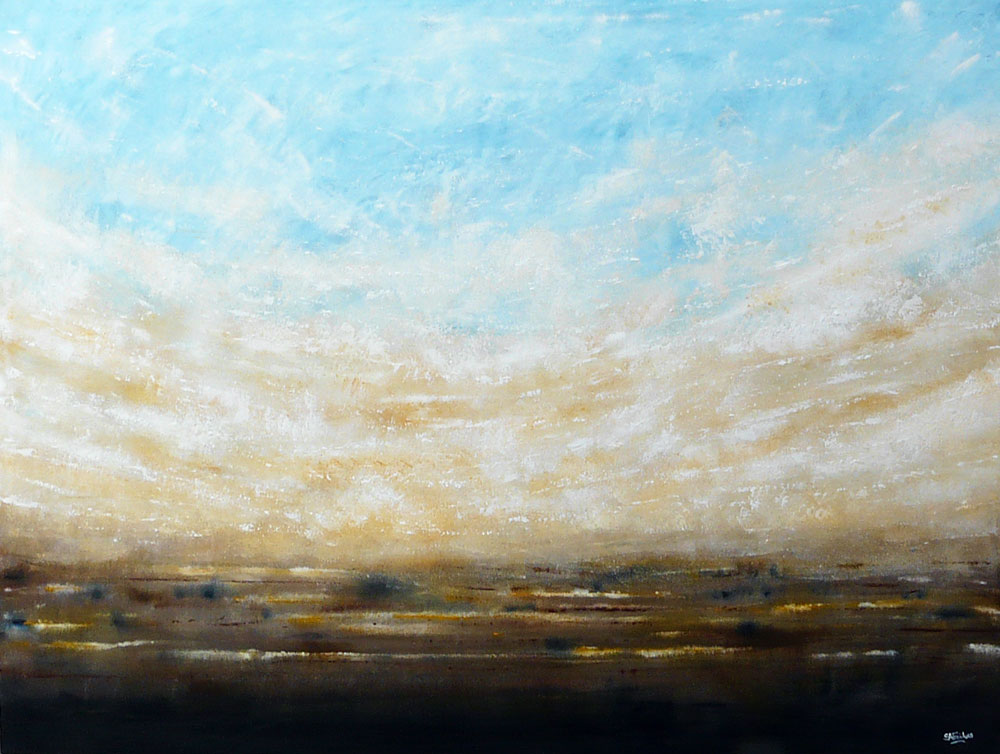 large abstract landscape painting