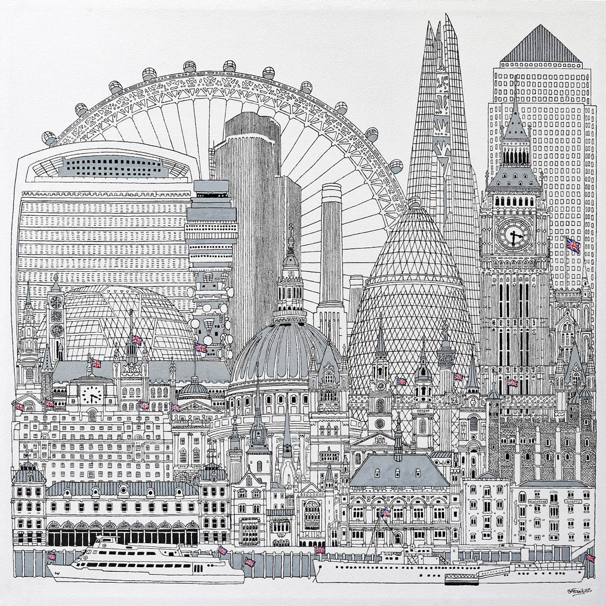 Large London painting