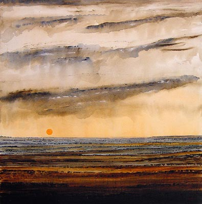 Evening Falls landscape painting