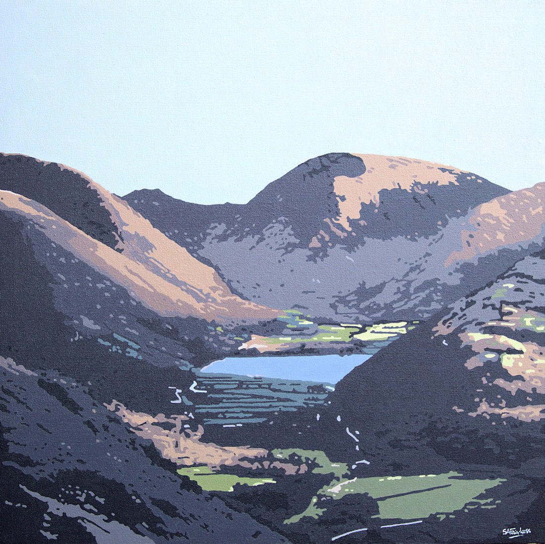 Lake District landscape painting