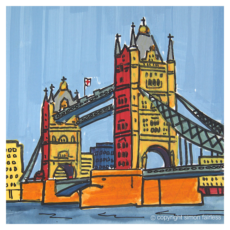 London Tower Bridge art